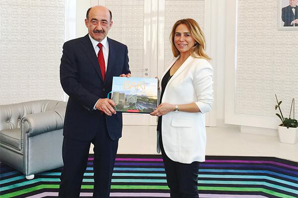 Azerbaycan Kültür ve Turizm Bakanı Ebülfes Karayev, İSF ve ICVB Genel Müdürü Hicran Özbük