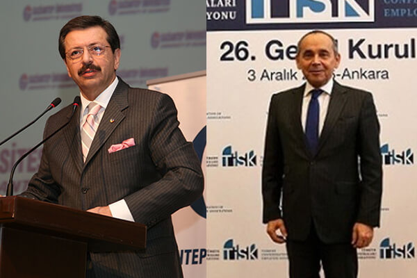 TOBB Başkanı Rifat Hisarcıklıoğlu, TİSK Başkanı Kudret Önen