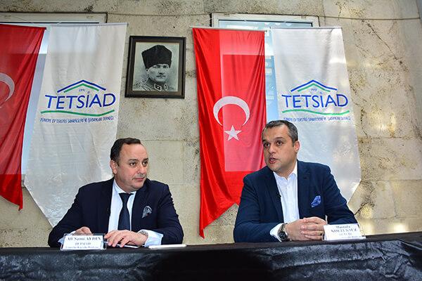 TETSİAD Başkanı Ali Sami Aydın, DETGİS Yönetim Kurulu Başkanı Mustafa Koltuksuz