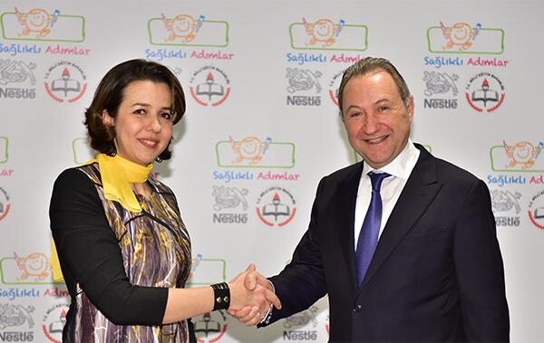 Nestlé Türkiye Genel Müdürü Felix Allemann, Dr. Gülderen Özdemir