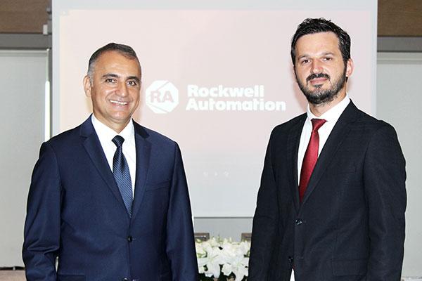 Rockwell Automation Ülke Direktörü Ediz Eren ve Market Otomasyon Genel Müdürü Gökhan Bozdağ.