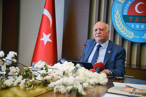 Türkiye Ziraat Odaları Birliği (TZOB) Genel Başkanı Şemsi Bayraktar.