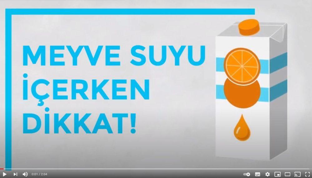 Gıda Güvenliği Derneği güvenli meyve suyu tüketimi için bilgilendirme videosu yayınladı